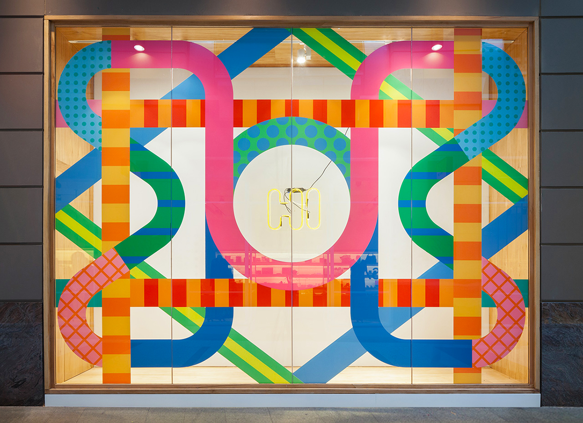 'Meet Me In The Middle',  Craig & Karl , 2014. A window installation for the relaunch of  Incu Clothing's  flagship store in Sydney, Australia. Photography by  Katherine Lu .