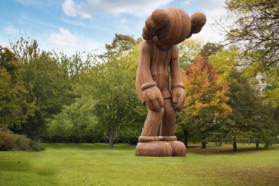 'Small Lie' by  KAWS , 2014. On display at  Frieze London  October 15th-18th. Photography courtesy of  Galerie Perrotin .