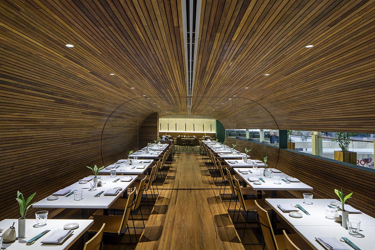 Gurumê Restaurant by Bernardes Arquitetura in Rio de Janeiro, Brazil