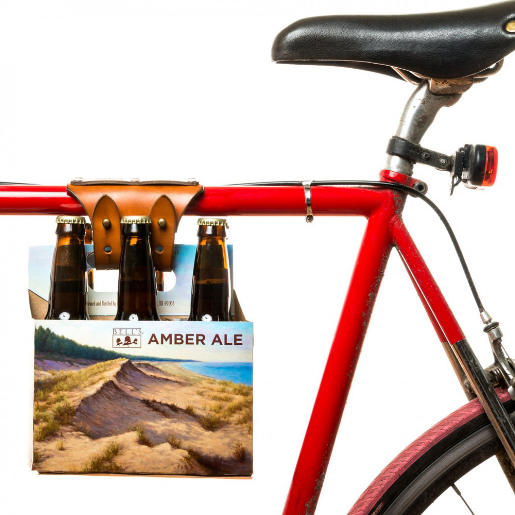 Six pack holder for your bicycle designed by Walnut Studio