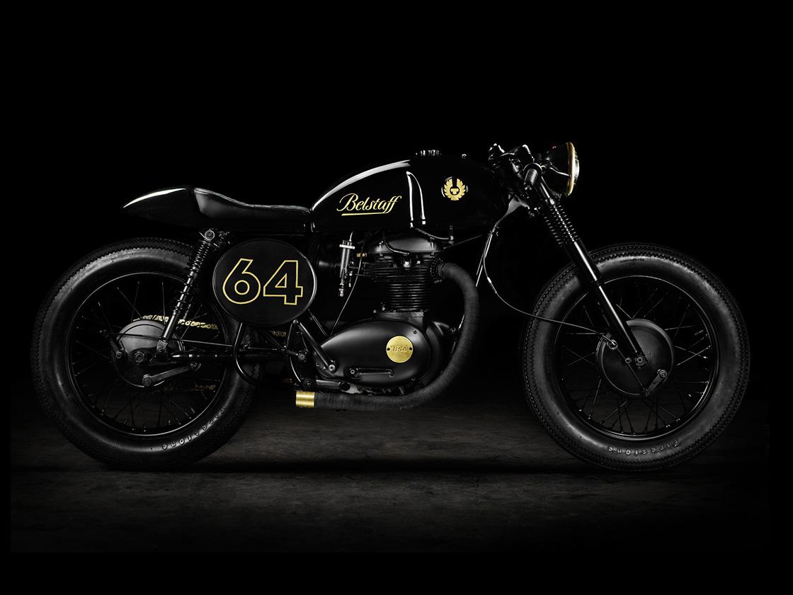 Belstaff BSA A65 1964 Cafe Racer Motorcycle