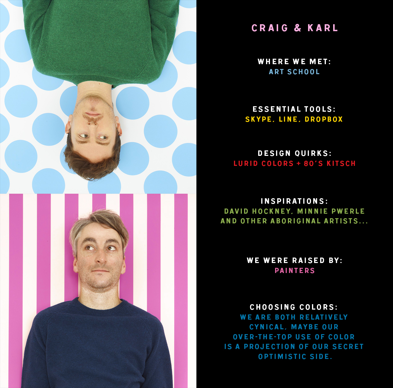 Getting to know Craig & Karl