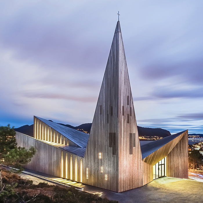 Church of Knarvik, by  Reiulf Ramstad Arkitekter