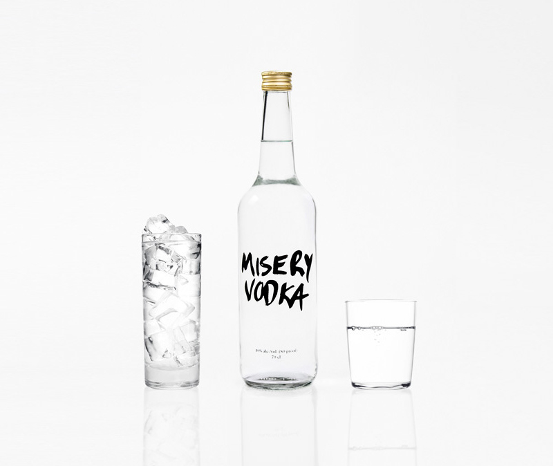 Misery Vodka takes an honest approach to their packaging design