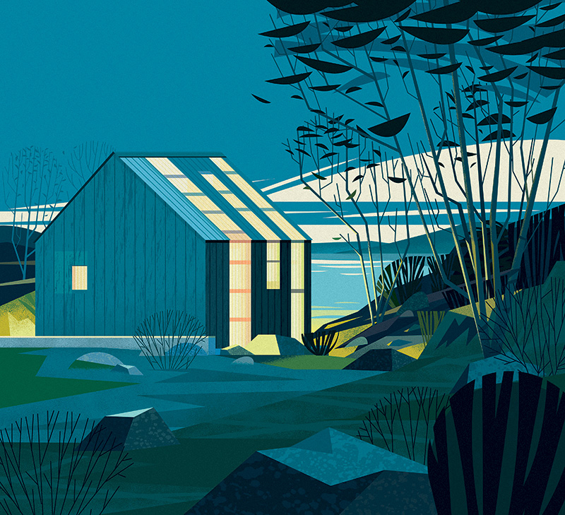 The Outsiders: Cabins, Illustrated by Cruschiform Art