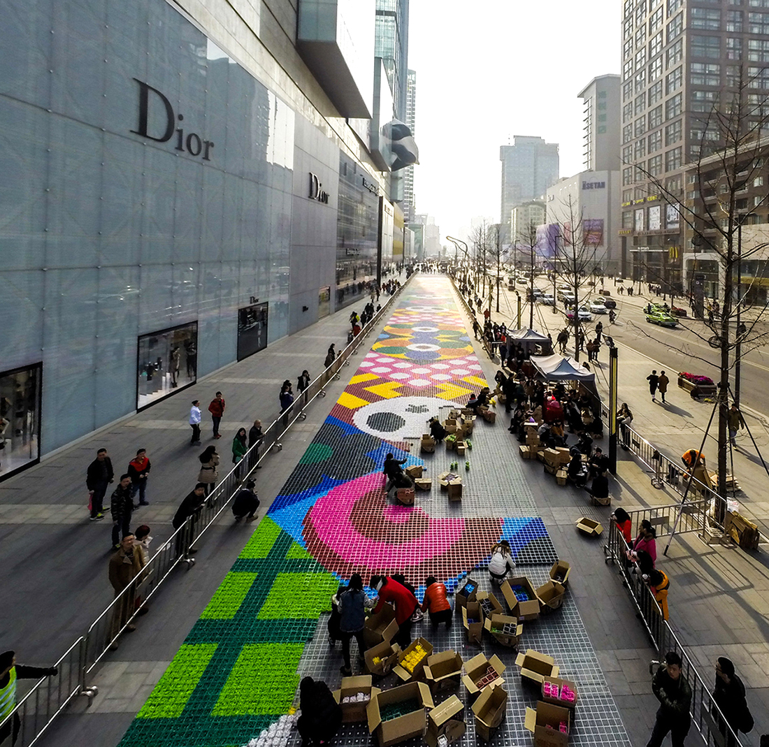 Chengdu's Candy Carpet by Craig & Karl and AllRightsReserved