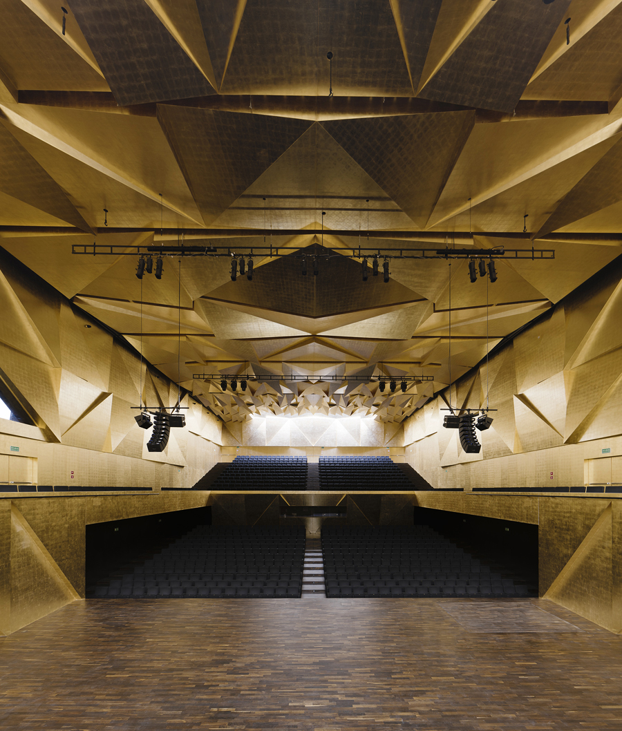 Philharmonic Hall Szczecin designed by  Estudio Barozzi Veiga . Photography by  Simon Menges .