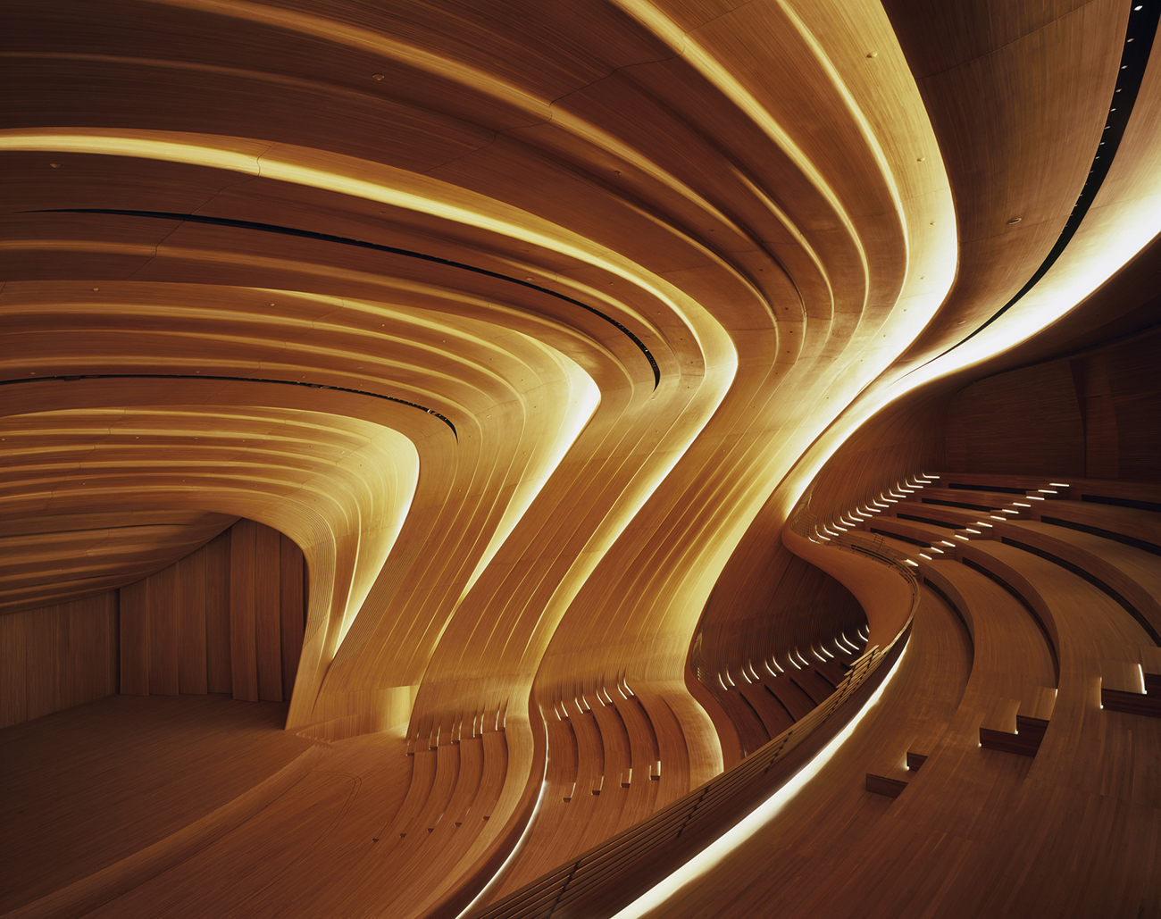Heydar Aliyev Center by Zaha Hadid Architects. Photography by  Hélène Binet .