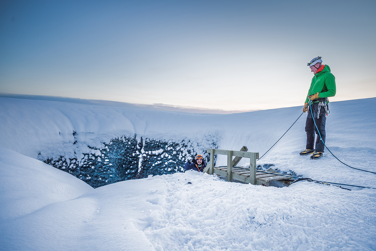 An ice walk through Iceland's Crystal Caves photography by Nicolas Brousse