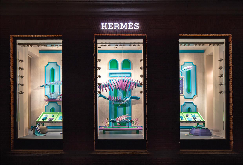 Zim & Zou Paper Windows for Hermès Maison Shanghai