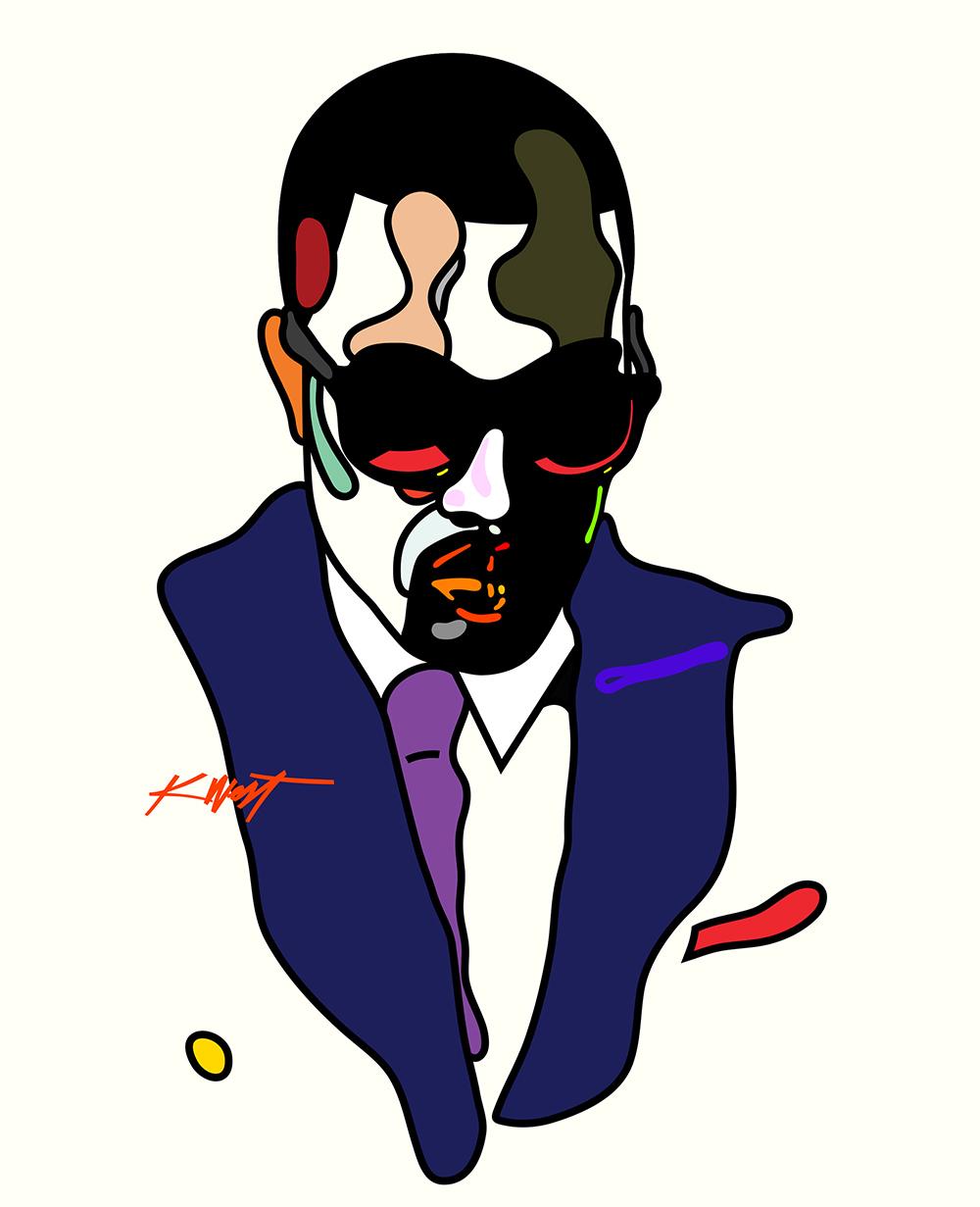 Kanye West by graphic designer Magnus Voll Mathiassen