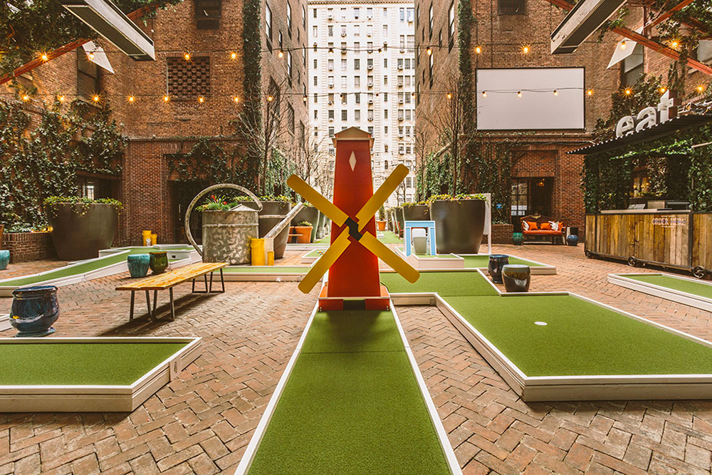 Putt Putt Park Minature Golf Opens at New York's Hudson Hotel