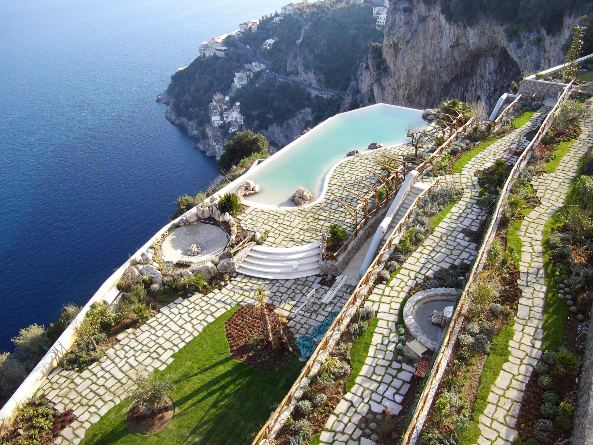 The  Monastero Santa Rosa Hotel & Spa  is located between Positano and Amalfi is a historic Monastery fully transformed into a boutique hotel.