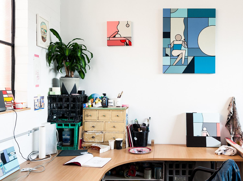 In studio with Artist Stephen Baker | Full interview at KNSTRCT.com