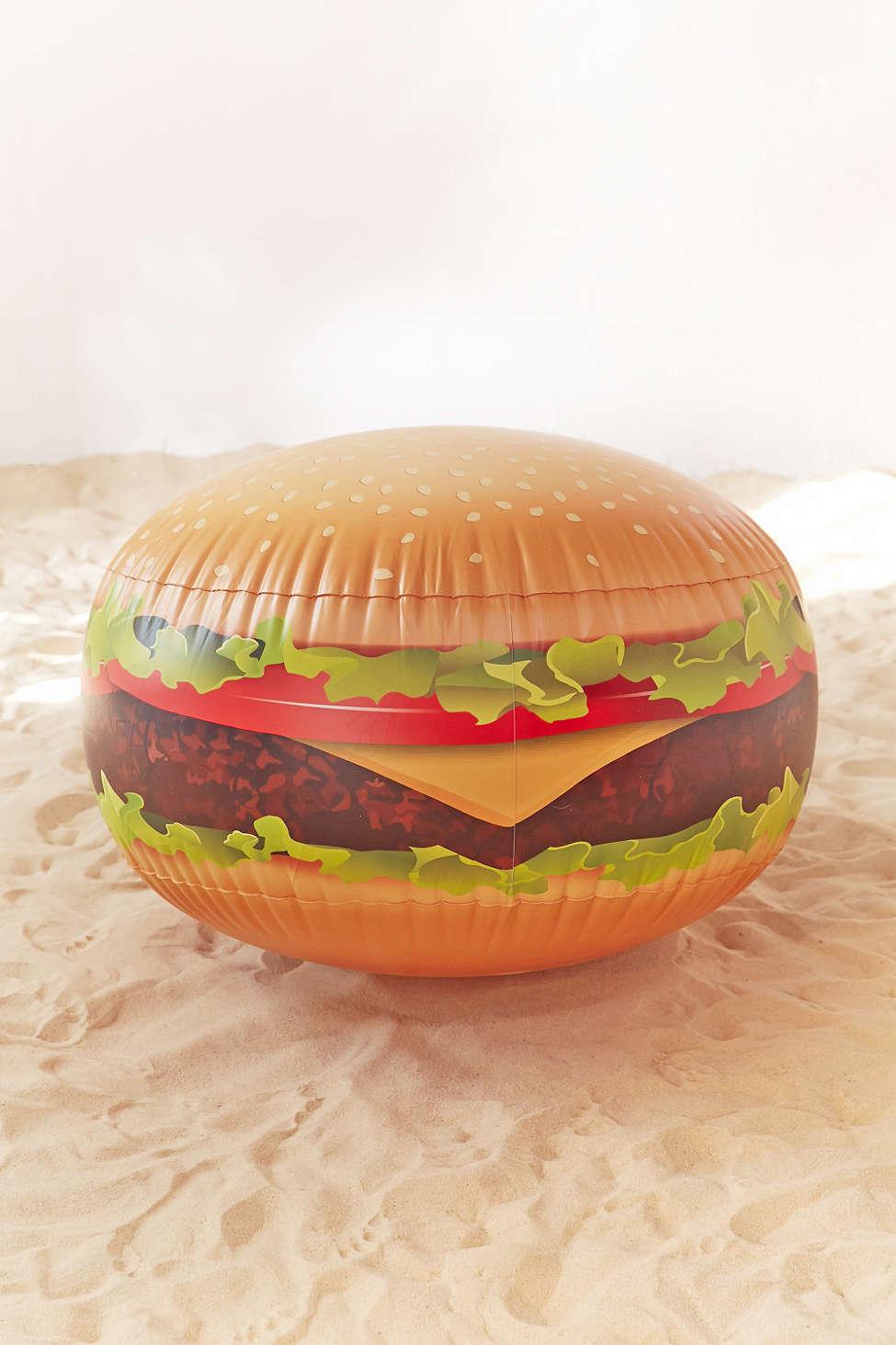 Cheeseburger Beach Ball  by Urban Outfitters $32