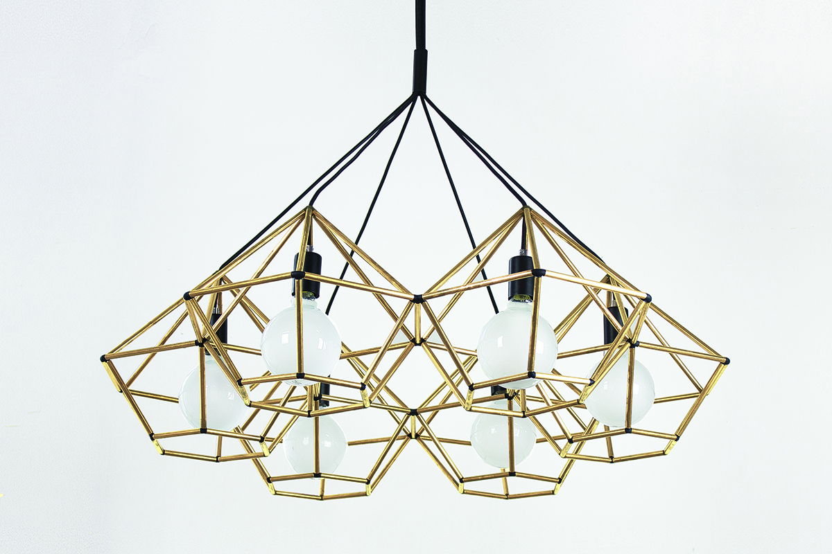 Rough Diamond Chandelier by Ben-Tovim Design