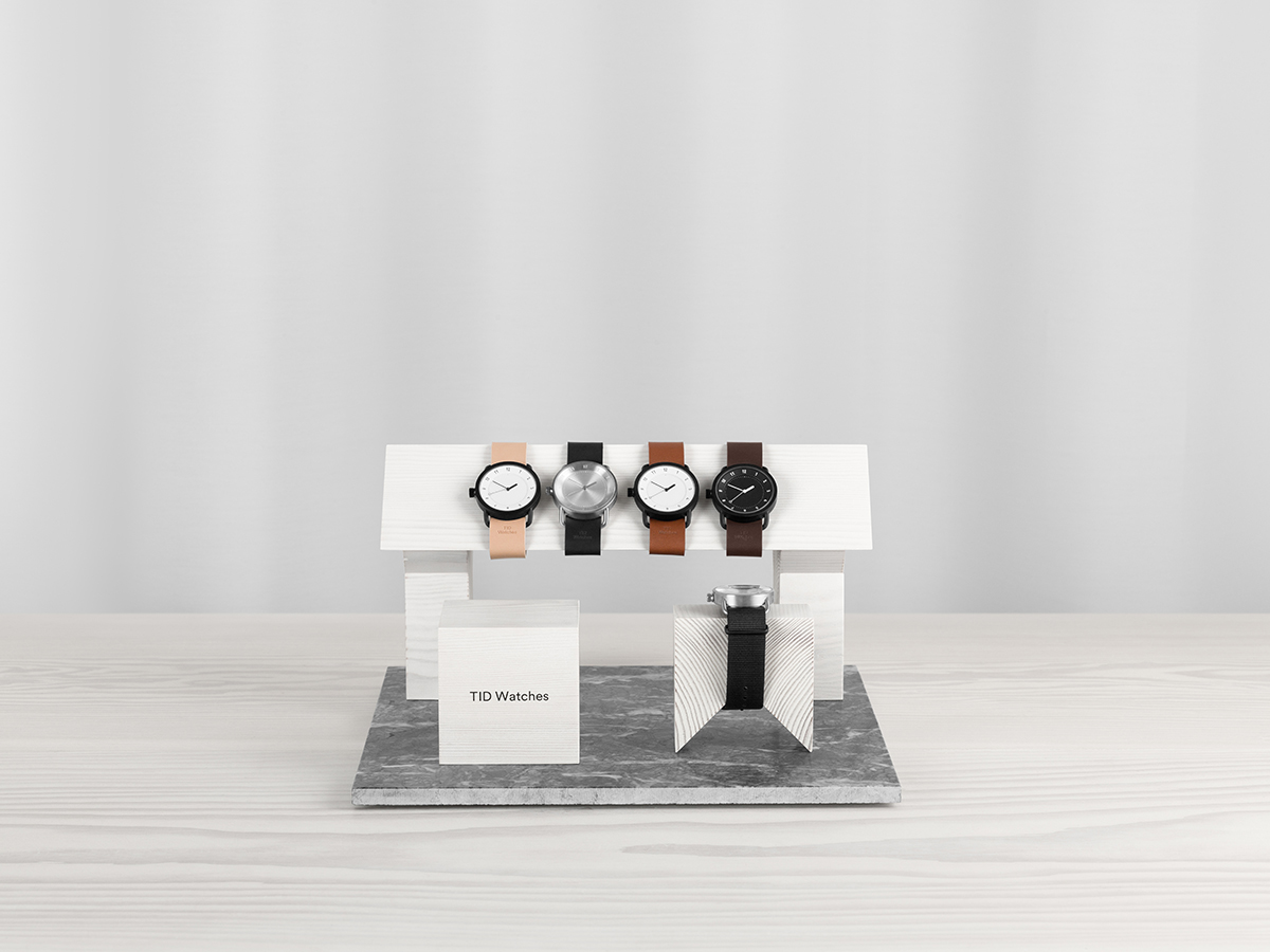 From Us With Love creates Display Blocks for TID Watches
