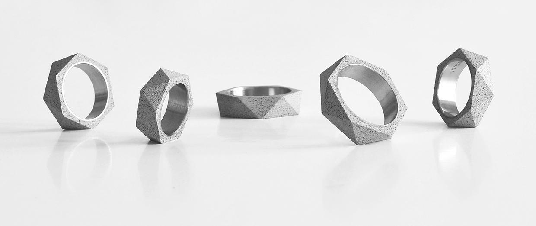 Studio Vacek Sculpts Concrete Jewelry & Box for Gravelli