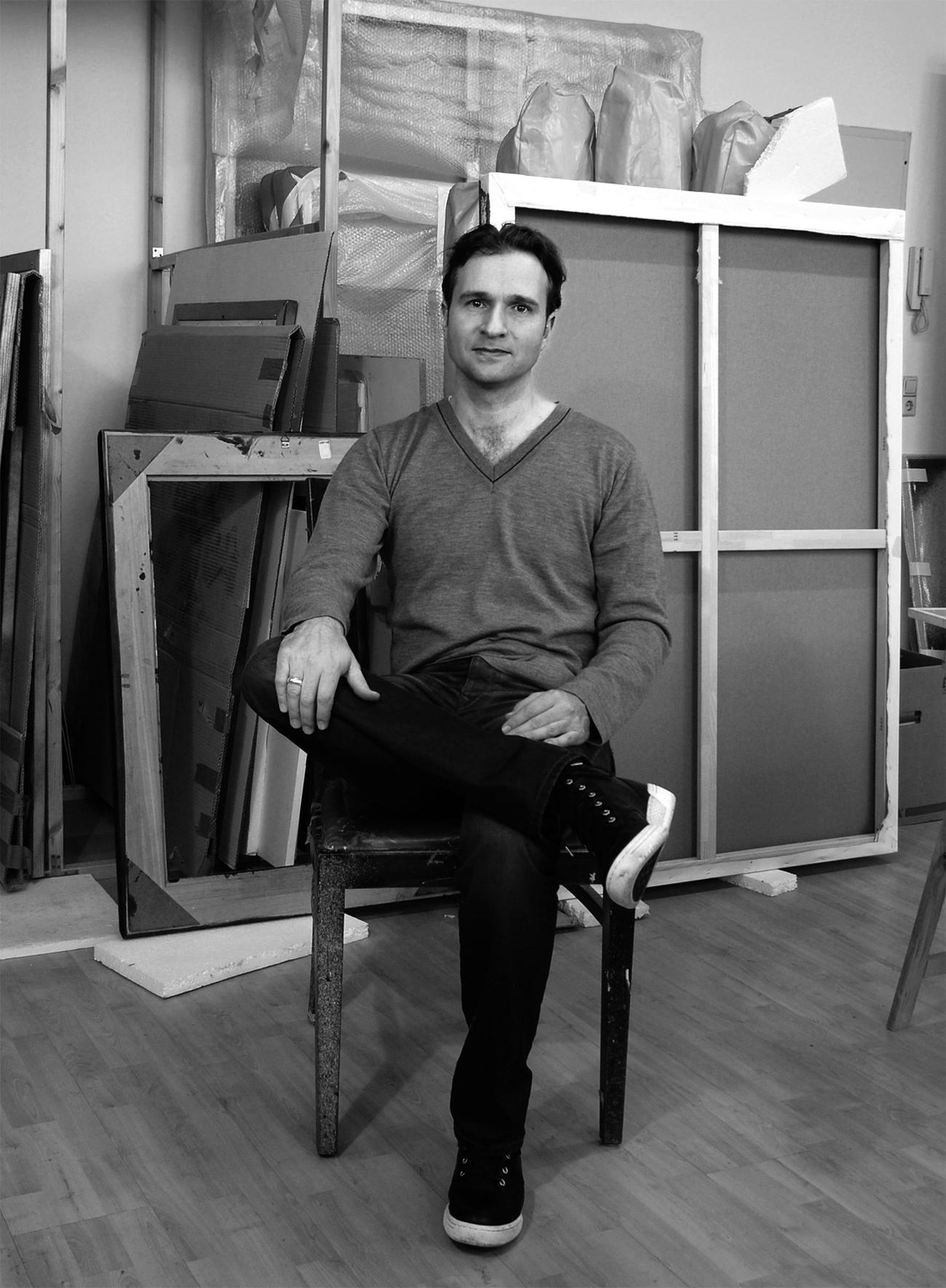 In studio with Eckart Hahn.