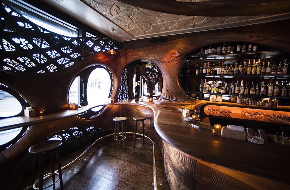 Pintxo Partisans Revisits Art Nouveau With Bar Raval Knstrct