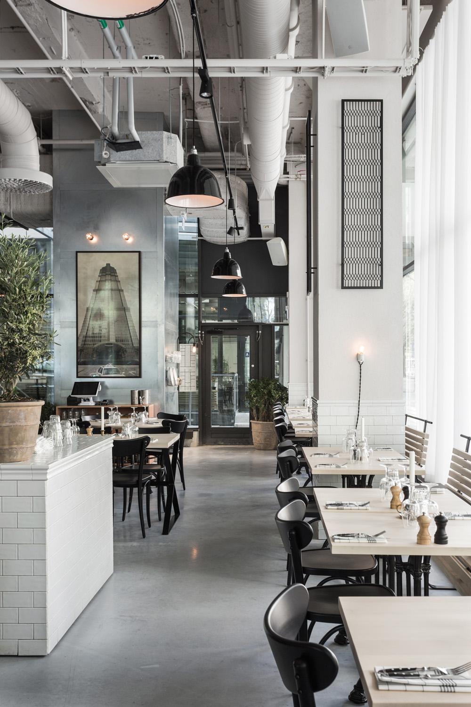 Usine restaurant interior design by Richard Lindvall