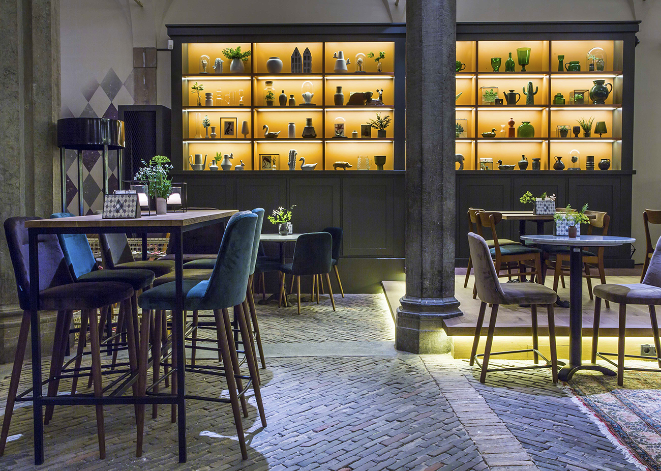 17th Century Merchant Mart Reinvented into Waag Restaurant and Cafe