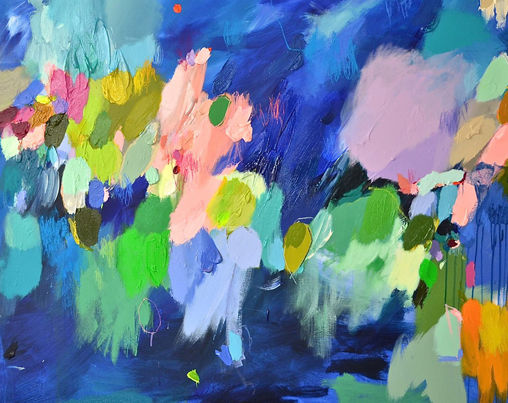 Abstract oil paintings by Melbourne-based artist Laelie Berzon