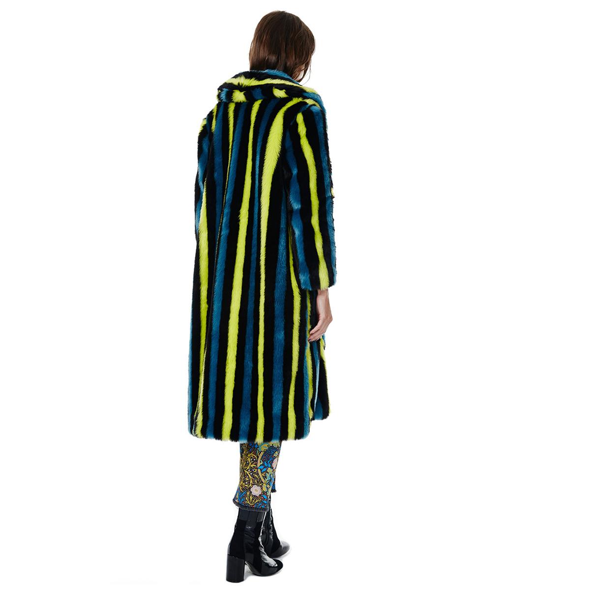 Green Stripe Portia Coat  by House of Hackney