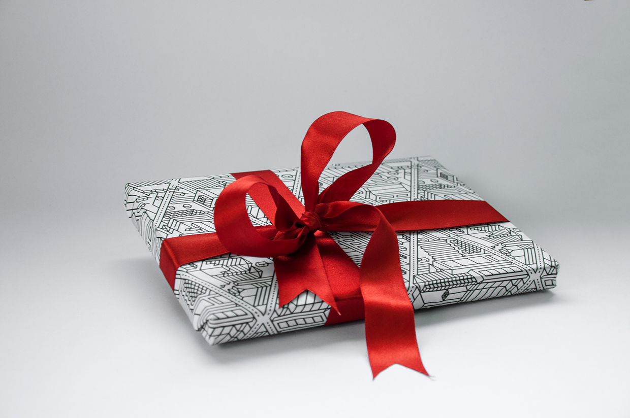 Architecture wrapping paper