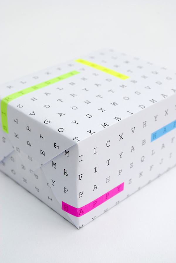 Word Search holiday wrapping paper