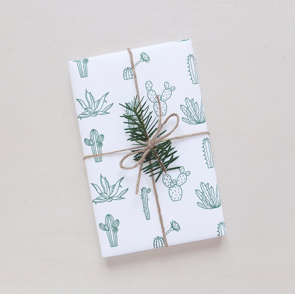 Botanical wrapping paper is perfect for the holidays!