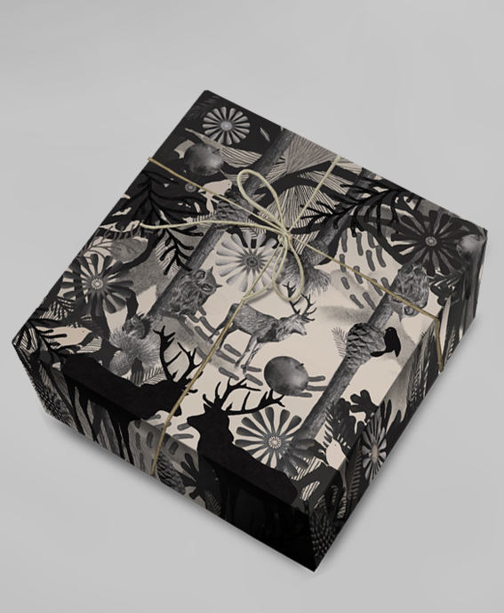 Dramatic Christmas wrapping paper