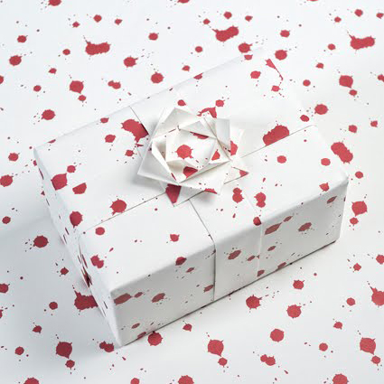 Blood Splatter Wrapping Paper