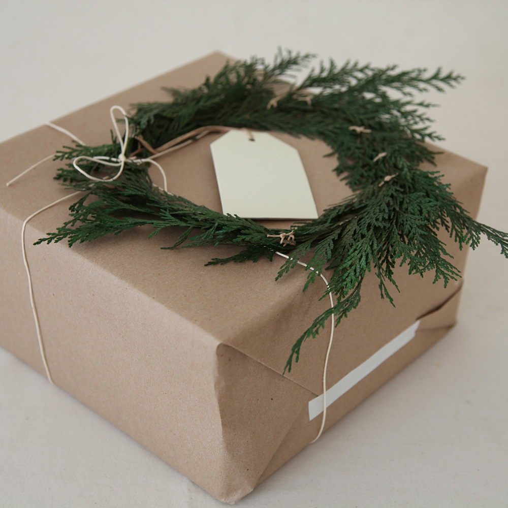 Top your gift with a wreath