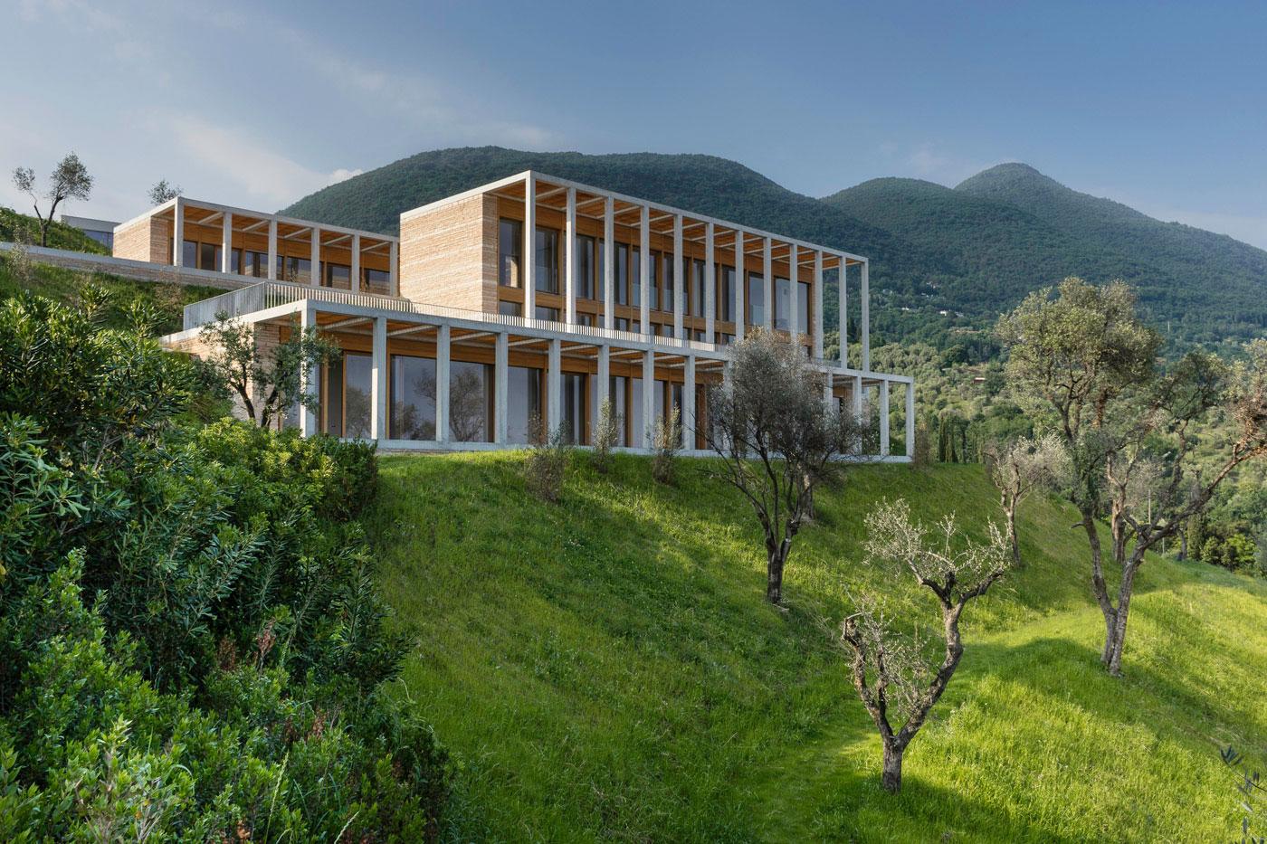 Pillared facade of Villa Eden by David Chipperfield Architects