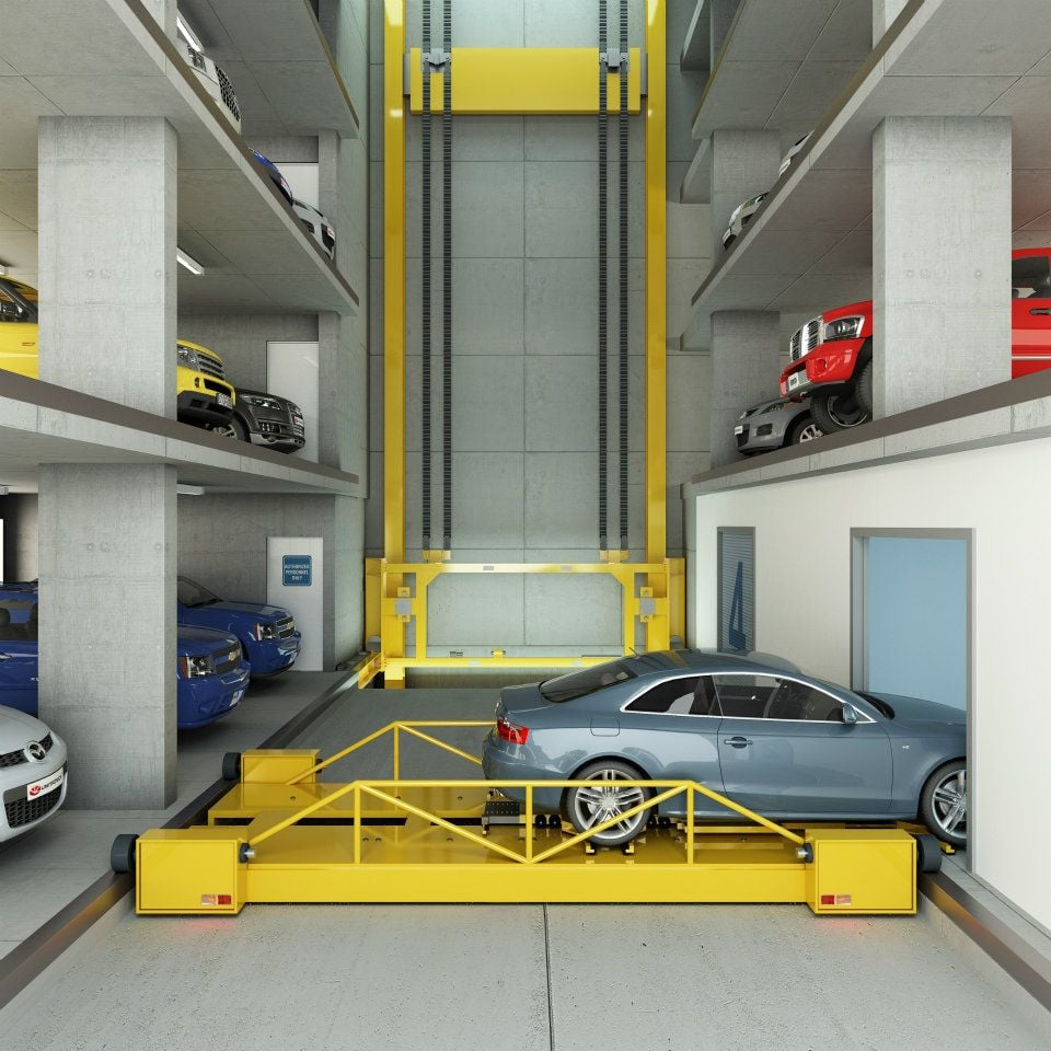 Brickell House's robotic car parking lot