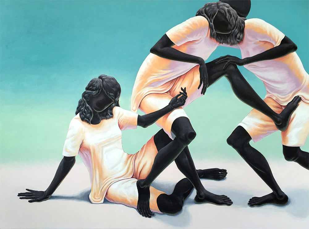 Triangle #2 48x64 inches oil on canvas