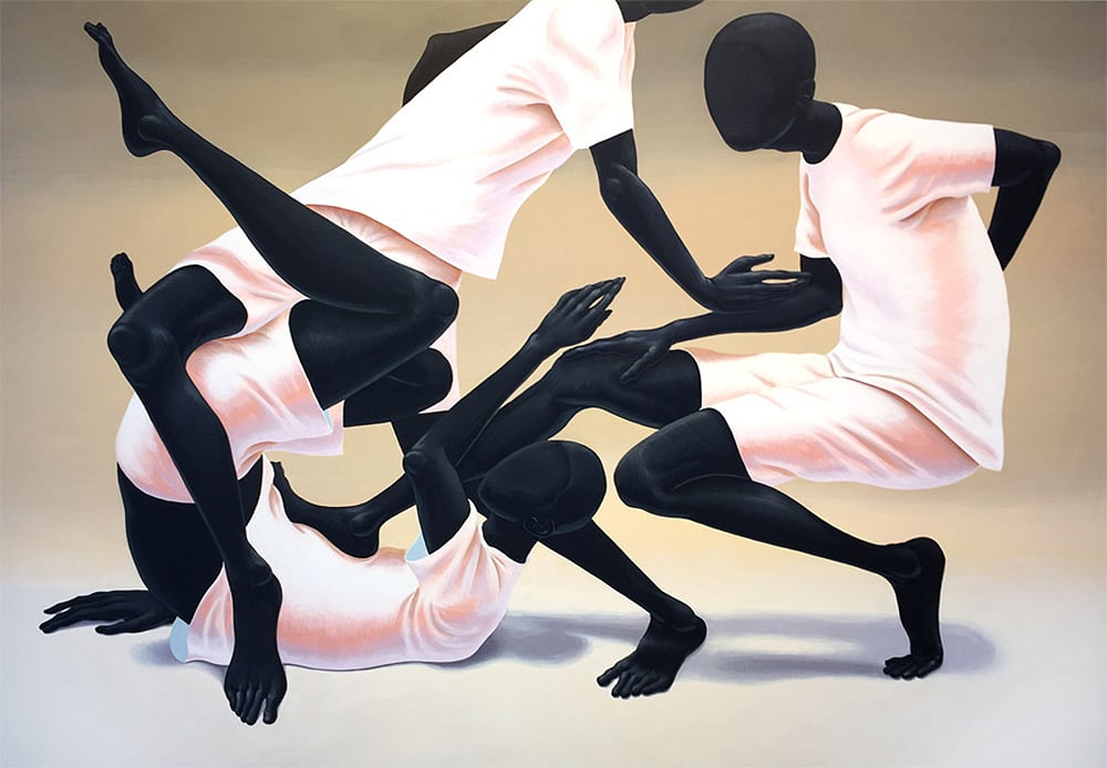 It could be simple 42x60 inches acrylic on wood