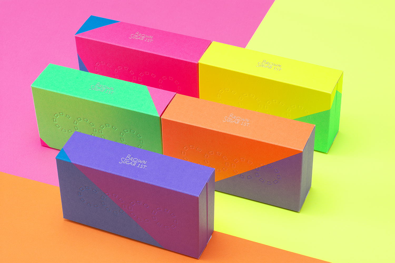 Colorful neon packaging design