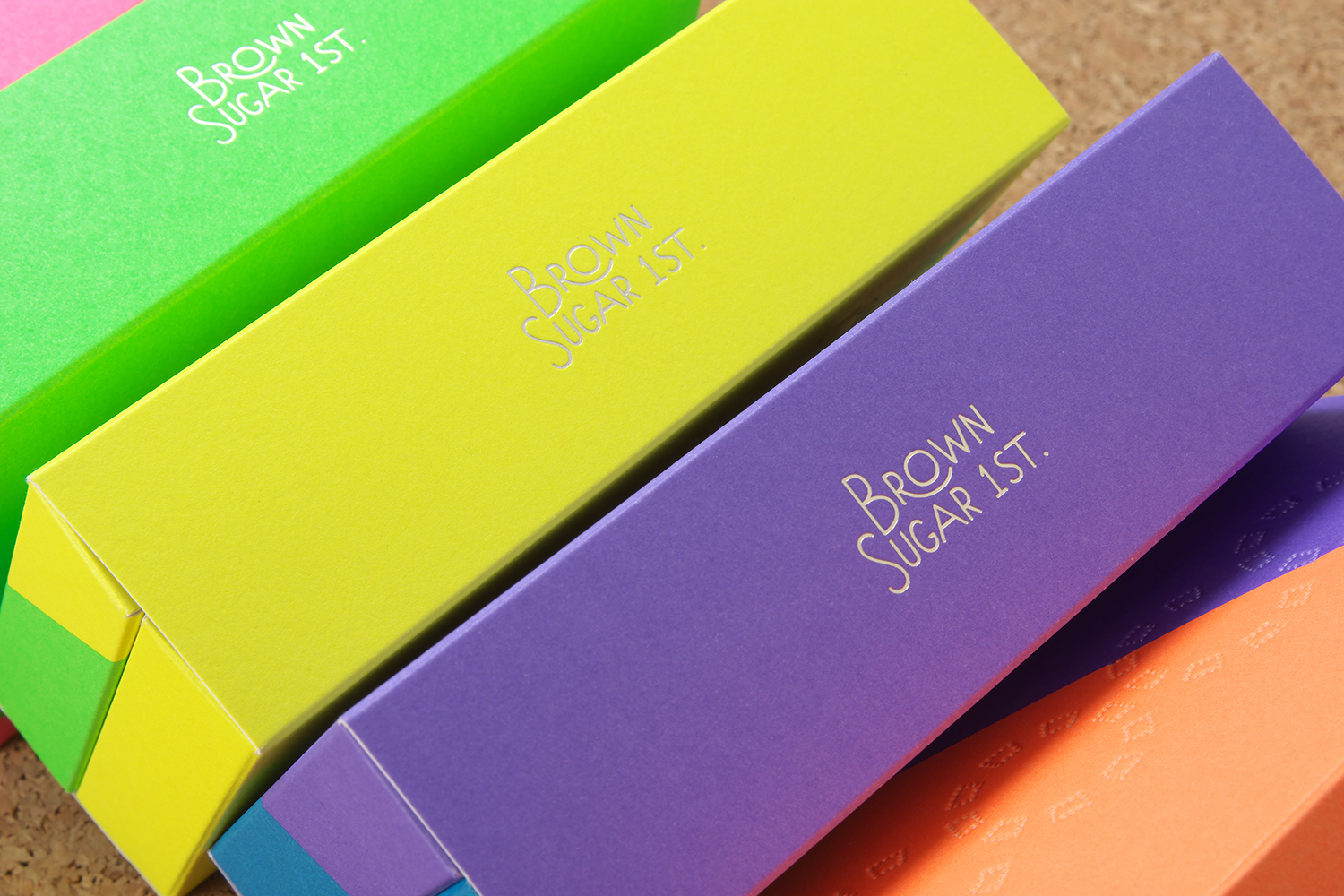 Colorful cookie packaging design