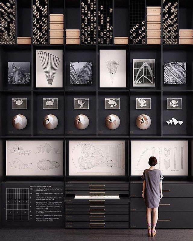 Original blueprints on display at Trias' proposed Museum of Architecture MA|UA in #Sydney @trias.studio