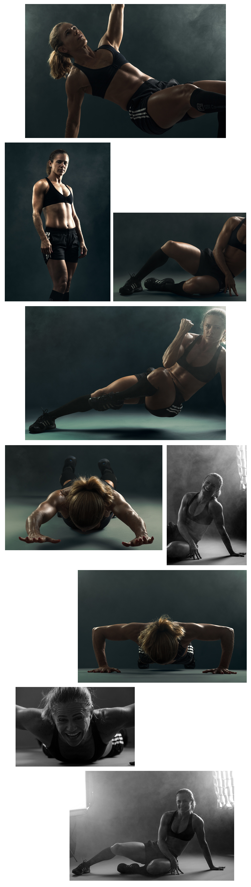 Fitness sport photo session