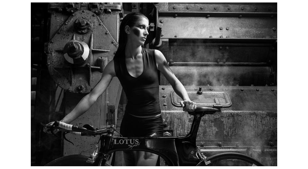 Foto - Gonçalo Barriga - campeã portuguesa de triatlo longo Vanessa Pereira