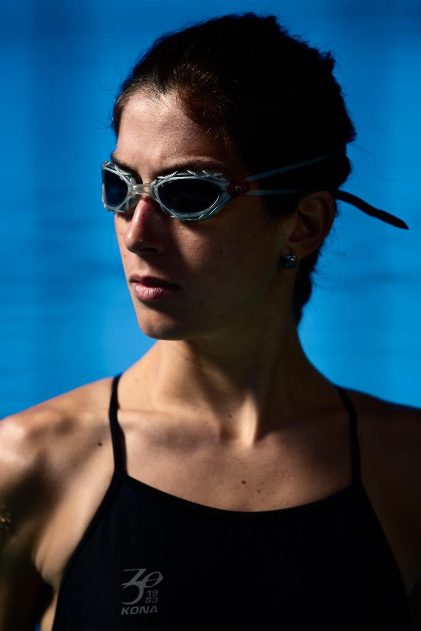 Gonçalo Barriga Photographer - Portrait of Female Athlete at Swimming Pool