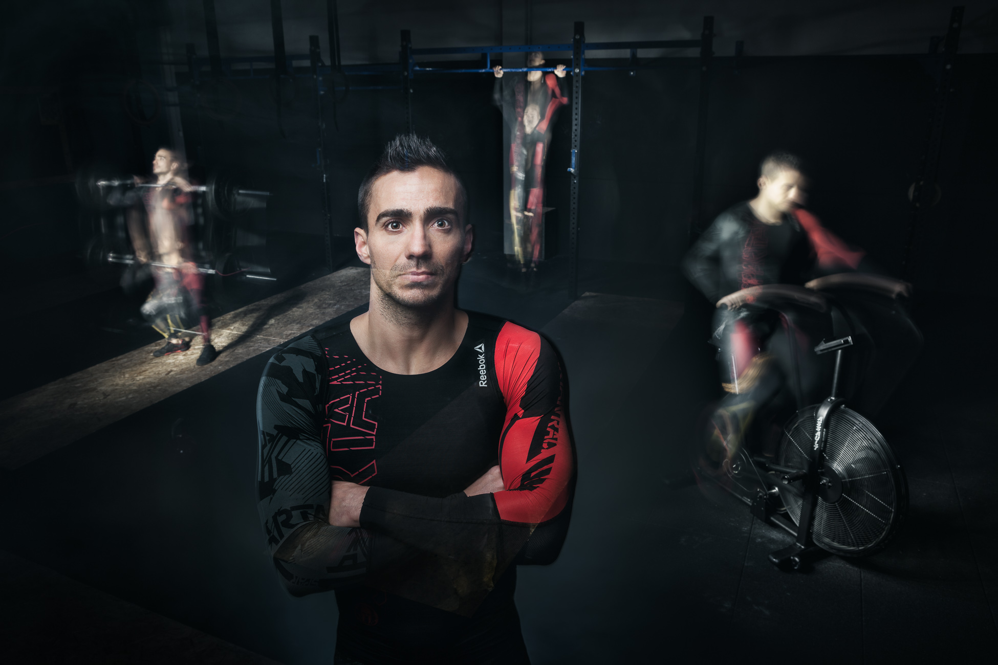 Gonçalo Barriga Photographer - Portrait of Crossfit Athlete in Action