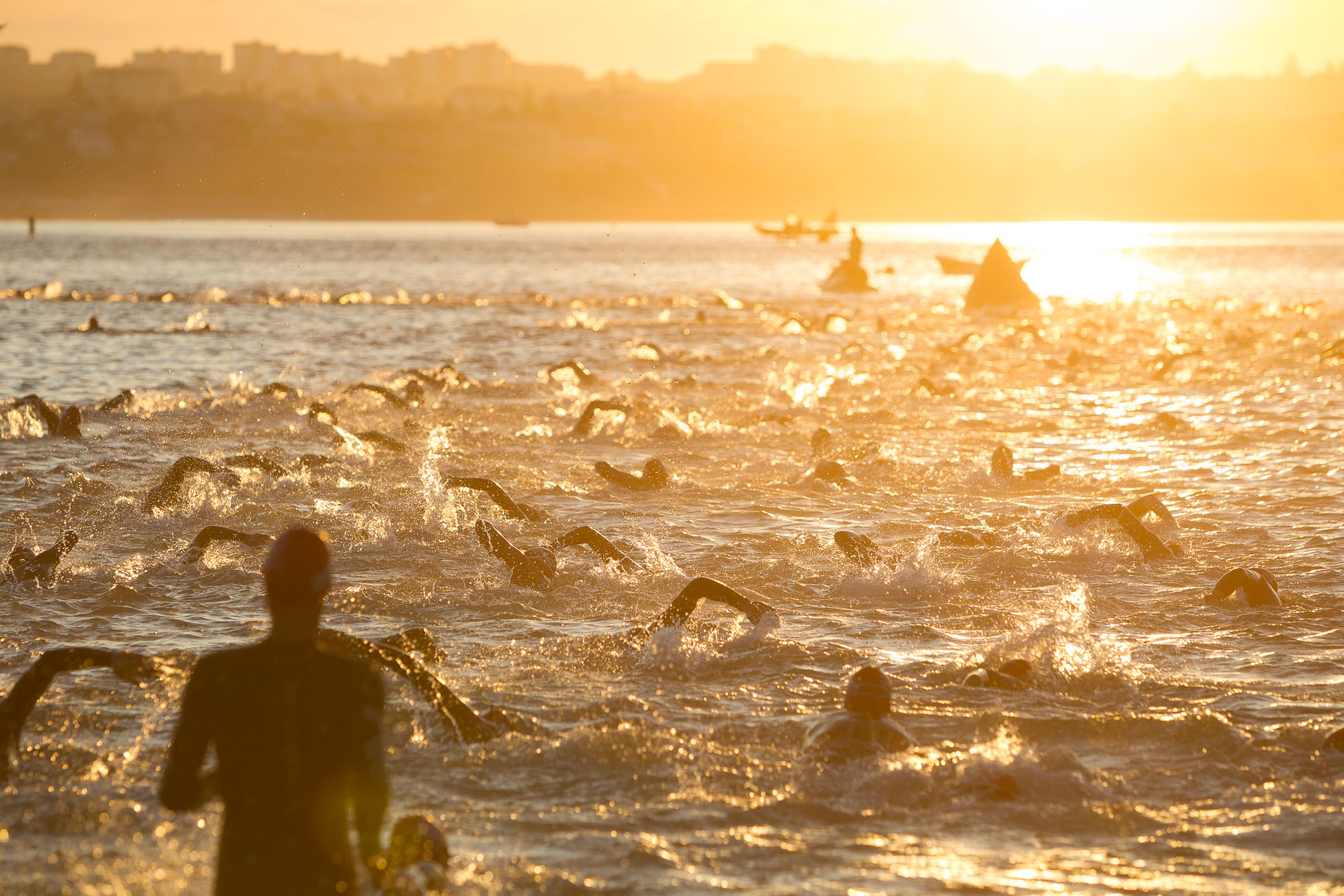 Gonçalo Barriga Sports Photographer - Triathlon swimming Ironman 70.3 Cascais