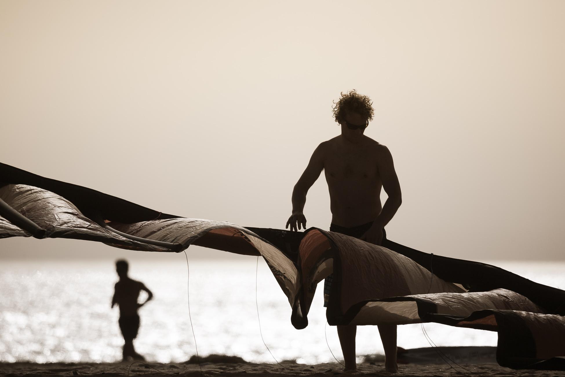 Gonçalo Barriga Photographer - Kitesurfer sunset