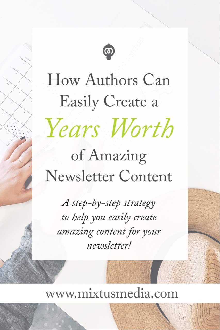 Creating great content for your author newsletter is critical in setting your book and career up for success. Here is a step-by-step strategy to help authors easily create amazing content for newsletters.
