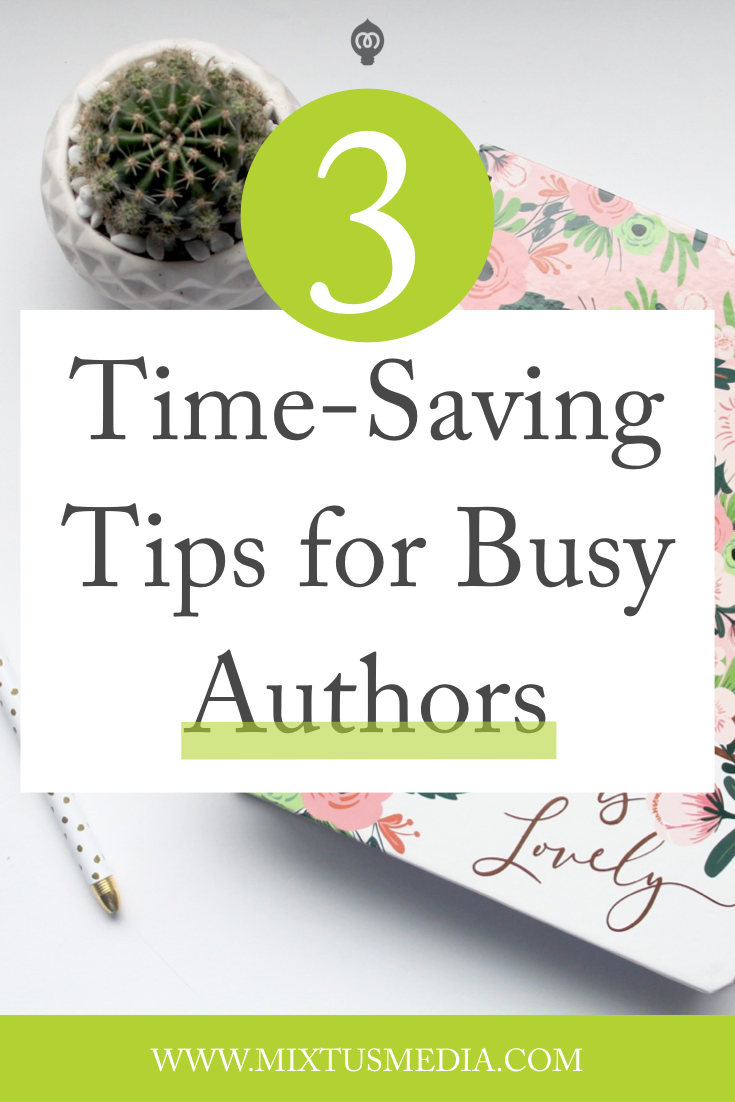 If you find yourself overwhelmed with everything an author needs to do - from writing your book to book marketing - this will help you save time and get more done. Book marketing tips, book marketing strategies, time-saving tips for authors, self publishing tips, book publishing tips, self publishing strategy