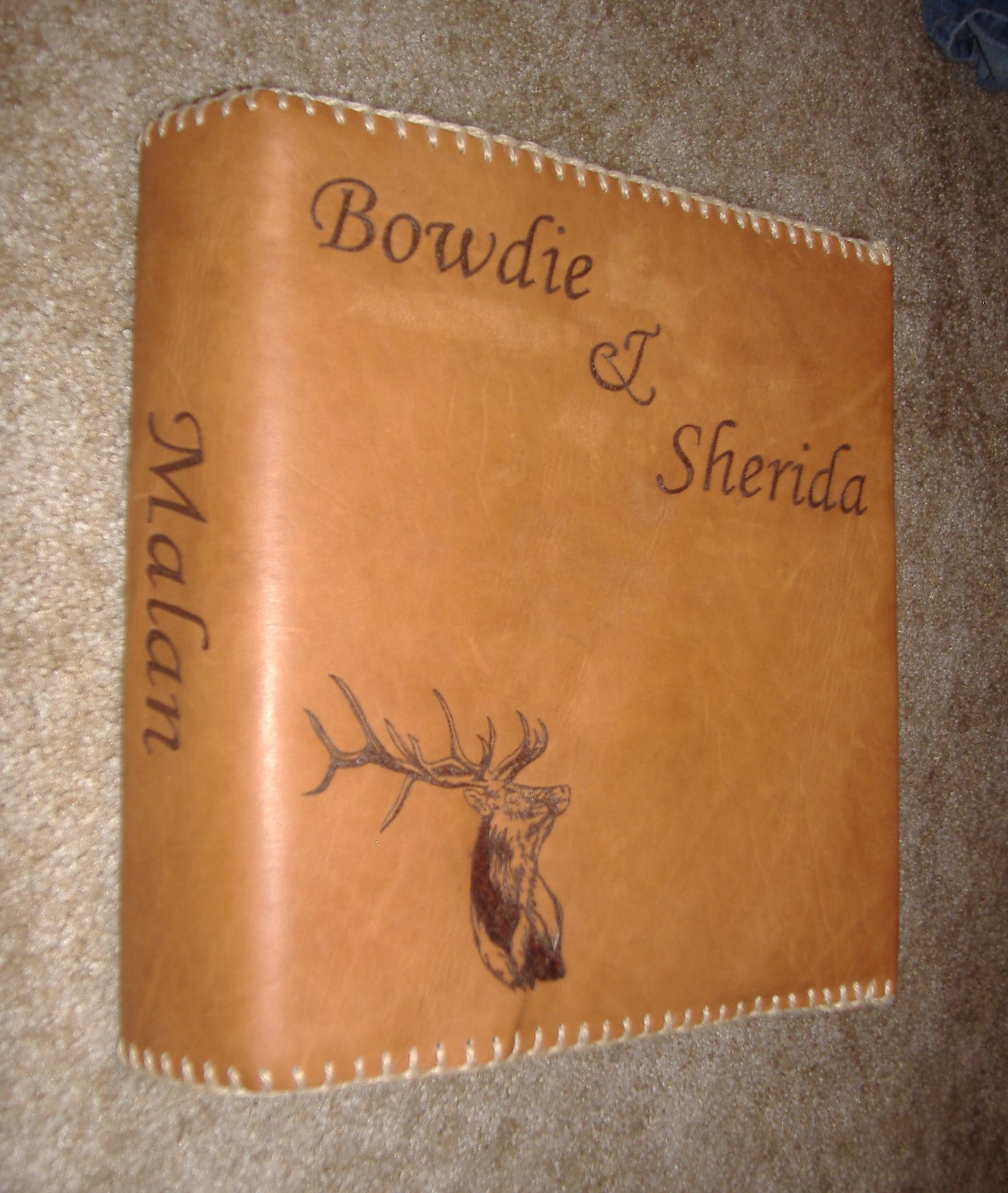 Circle M-Brand Leather Binder - Elk.JPG